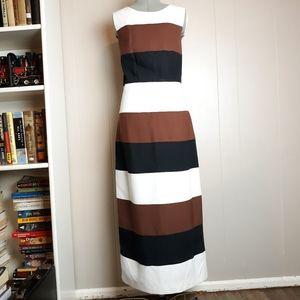 Vintage 90s color block midi dress